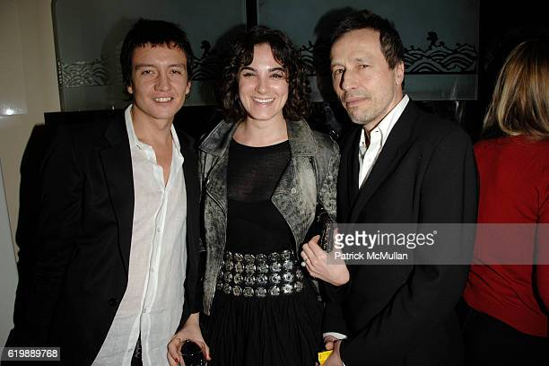 Anthony James Phoebe James and Michael Wincott attend GAGOSIAN GALLERY Private Dinner for JULIAN SCHNABEL at Mr Chow at Mr Chow on February 21 2008...