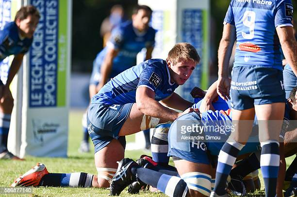 Anthony Jelonch of Castres during a friendly match between Castres and Aurillac at Stade de Rugby on August 6 2016 in Lacaune France