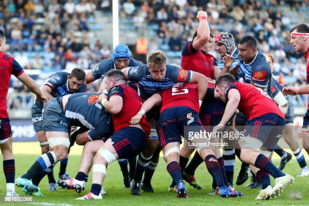 Anthony Jelonch of Castres during the European Champions Cup match between Castres and Munster on October 15 2017 in Castres France
