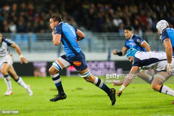 Anthony Jelonch of Castres during the Top 14 match between Castres and Montpellier on September 9 2017 in Castres France