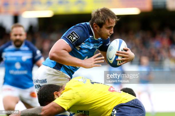 Anthony Jelonch of Castres during the Top 14 match between Castres and Clermont on October 1 2017 in Castres France