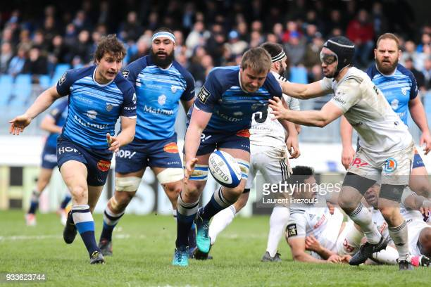 Anthony Jelonch of Castres during the Top 14 match between Castres and Brive at on March 18 2018 in Castres France