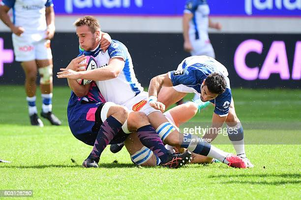 Anthony Jelonch of Castres during the Top 14 match between Stade Francais and Castres Olympique at Stade Jean Bouin on September 10 2016 in Paris...