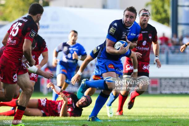 Anthony Jelonch of Castres during Top 14 match between Castres and Lyon Lou on September 1 2018 in Castres France