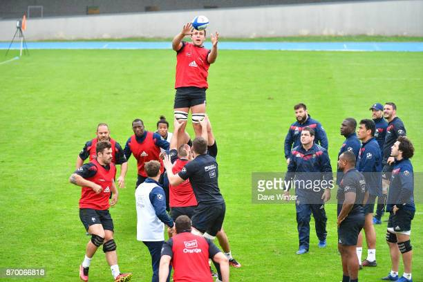 Anthony Jelonch of France during the training session of French Rugby Team on November 4 2017 in Marcoussis France