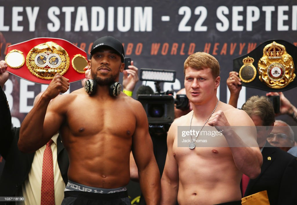 Anthony Joshua And Alexander Povetkin Weigh-in