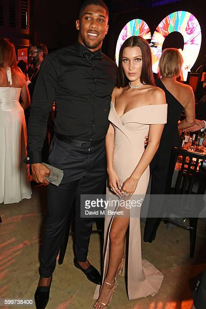 Anthony Joshua and Bella Hadid attend the GQ Men Of The Year Awards 2016 after party at the Tate Modern on September 6 2016 in London England