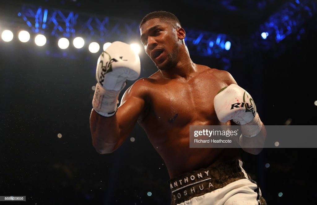 Anthony Joshua v Carlos Takam -  World Heavyweight Title Fight : News Photo