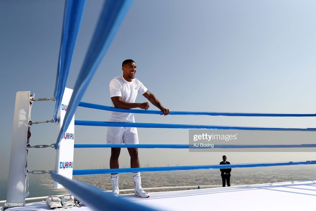 Anthony Joshua at Burj Al Arab on November 18, 2017 in Dubai, United Arab Emirates.