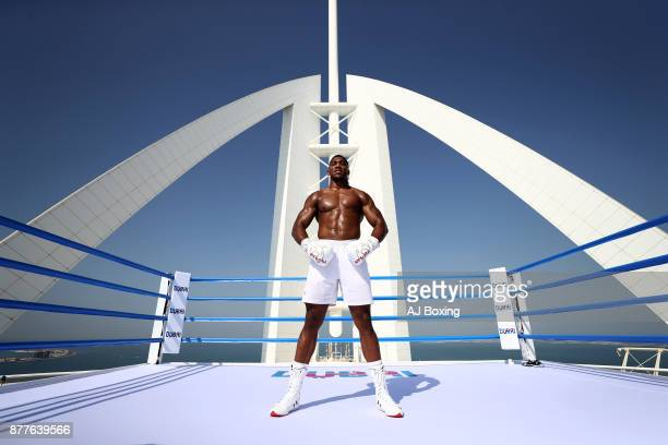 Anthony Joshua at Burj Al Arab on November 18 2017 in Dubai United Arab Emirates
