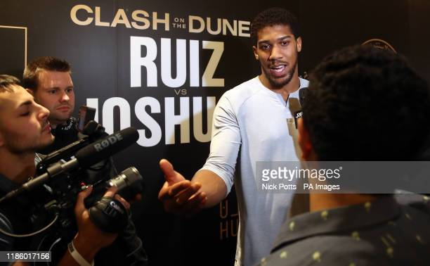 Anthony Joshua at the Centria Mall in Riyadh