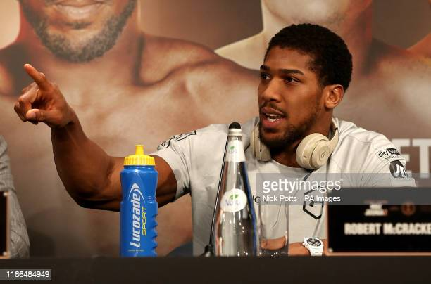 Anthony Joshua at the Diriyah Season Hospitality Lounge in Riyadh Saudi Arabia