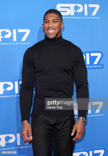 Anthony Joshua attends the BBC Sports Personality of the Year 2017 Awards at the Echo Arena on December 17 2017 in Liverpool England