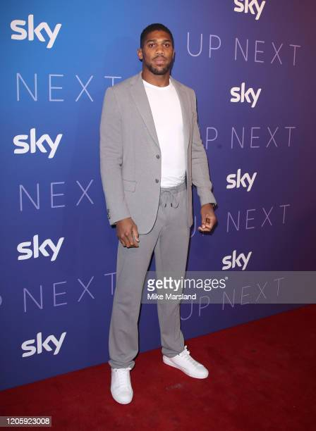 Anthony Joshua attends the Sky Up Next 2020 at Tate Modern on February 12, 2020 in London, England.