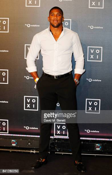 Anthony Joshua attends the VOXI launch party at Brick Lane Yard on August 31 2017 in London England