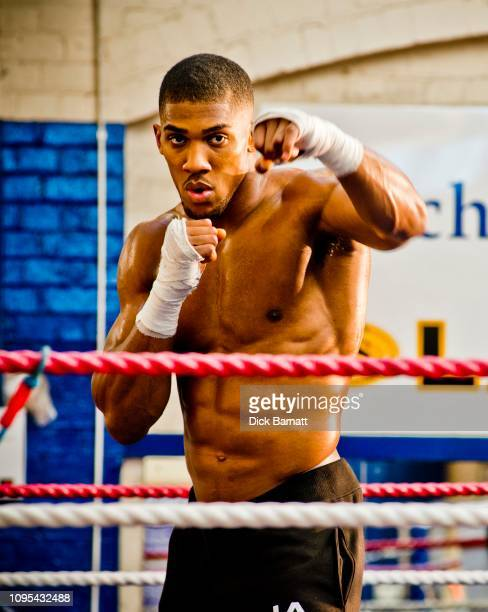 Anthony Joshua British boxer at Finchley Boxing Club 23rd October 2013