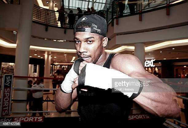 Anthony Joshua during a public workout on October 6 2014 in London England