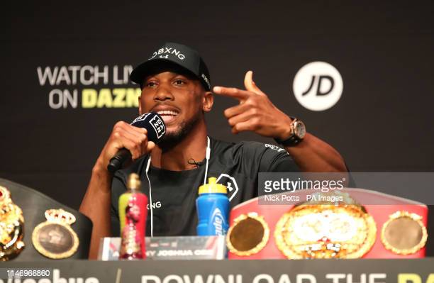 Anthony Joshua during the press conference at the Beacon Theater New York