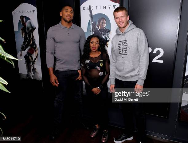 Anthony Joshua Lady Leshurr and Eric Dier attend the Destiny 2 launch event on PlayStation 4 Available from Wednesday 6th September 2017 #Destiny2 at...