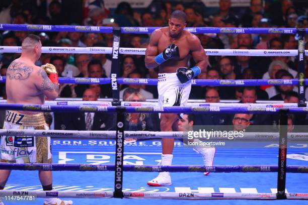Anthony Joshua of England during the first round of the World Heavyweight Championship fight on June 1 2019 at Madison Square Garden in New York NY