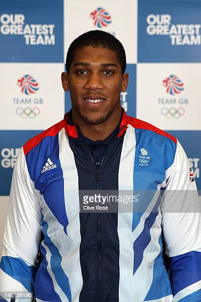 Anthony Joshua of Great Britain poses for a portrait during the announcement of the Team GB Boxing athletes for the London 2012 Olympic Games at the...