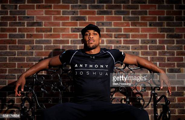 Anthony Joshua poses for a picture during the Anthony Joshua and Dominic Breazeale Press Conference on May 4 2016 in London England