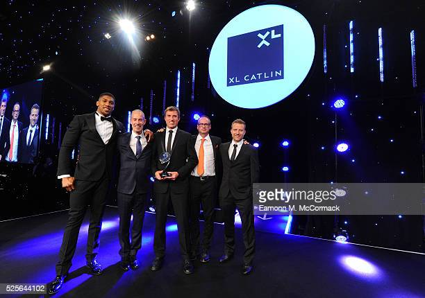 Anthony Joshua presents the Participation Event of the Year in association with XL Catlin to parkrun UK at the BT Sport Industry Awards 2016 at...