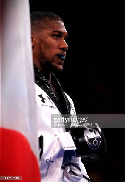 Anthony Joshua prior to the fight against Andy Ruiz Jr at Madison Square Garden New York