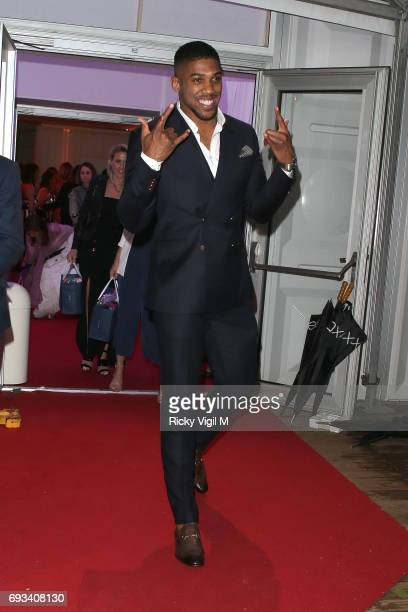 Anthony Joshua seen leaving Glamour Women Of The Year 2017 Awards afterparty held at Berkeley Square Gardens on June 6 2017 in London England