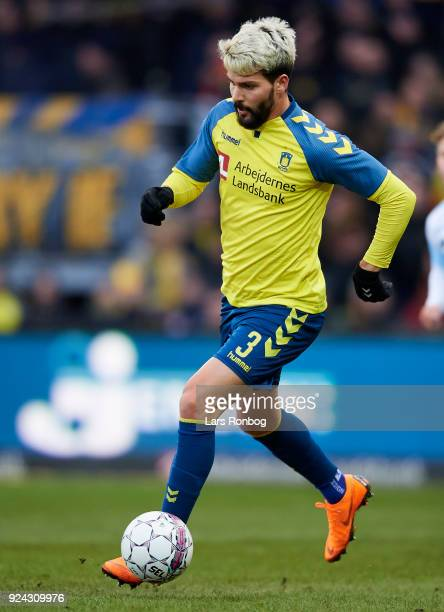 Anthony Jung of Brondby IF controls the ball during the Danish Alka Superliga match between Brondby IF and FC Helsingor at Brondby Stadion on...