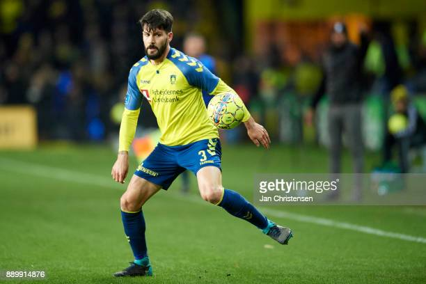 Anthony Jung of Brondby IF in action during the Danish Alka Superliga match between Brondby IF and AGF Arhus at Brondby Stadion on December 10 2017...