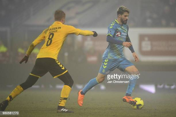 Anthony Jung of Brondby IF in action during the Danish Alka Superliga match between AC Horsens and Brondby IF at Casa Arena Horsens on March 11 2018...