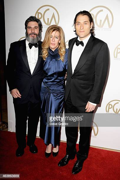Anthony Katagas Dede Gardner and Jeremy Kleiner attend the 25th annual Producers Guild of America Awards at The Beverly Hilton Hotel on January 19...