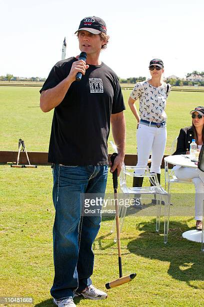 Anthony Kennedy Shriver and Anja Kaehny attend the Audi Best Buddies Polo Experience at Grand Champions Polo Club on March 19 2011 in Wellington...