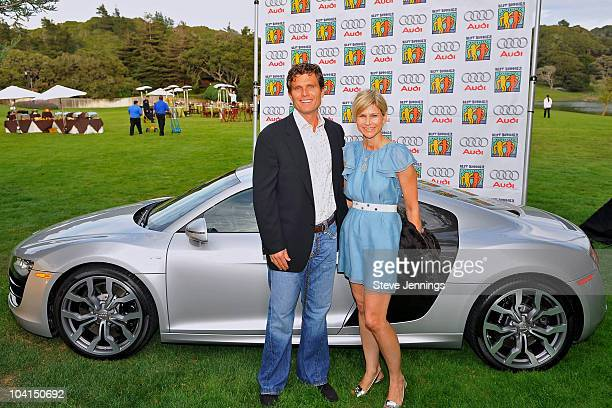 Anthony Kennedy Shriver and Anja Kaehny attend the First Lady's Wine and Food Challenge kicking off the Audi Best Buddies Challenge at Hearst Castle...