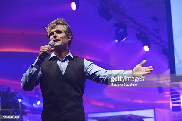 Anthony Kennedy Shriver speaks on stage during the 18th Annual Best Buddies Miami Gala Southeast Asia at Fontainebleau Miami Beach on November 21...