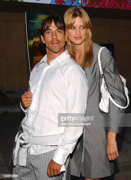 Anthony Kiedis and Celesta during Riding Giants Los Angeles Premiere at The Egyptian Theatre in Hollywood California United States