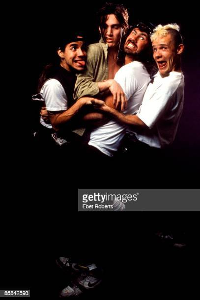 Photo of Anthony KIEDIS and Chad SMITH and John FRUSCIANTE and FLEA and RED HOT CHILI PEPPERS Left to Right Anthony Kiedis John Frusciante Chad Smith...