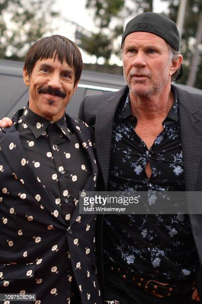 Anthony Kiedis and Chad Smith of Red Hot Chili Peppers attend the 61st Annual GRAMMY Awards at Staples Center on February 10 2019 in Los Angeles...