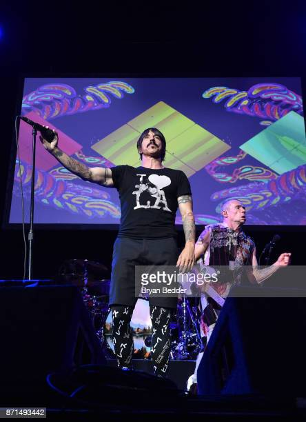 Anthony Kiedis and Flea of Red Hot Chili Peppers perform onstage during the 11th Annual Stand Up for Heroes Event presented by The New York Comedy...