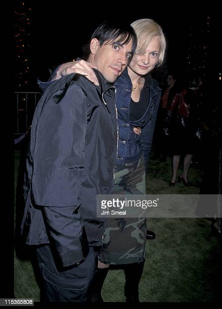 Anthony Kiedis and guest during The Grinch Los Angeles Premiere at Universal City Amphitheatre in Universal City California United States