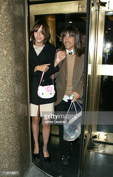 Anthony Kiedis and Heather during Hilary Duff Anthony Kiedis and Jenny Lewis of Rilo Kiley Stop By ''Late Night with Conan O'Brien'' at Rockefeller...
