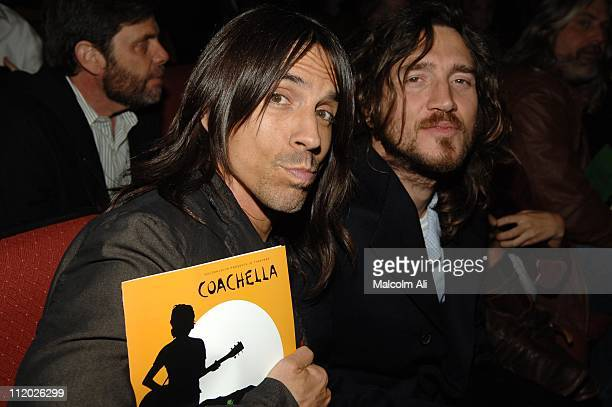 Anthony Kiedis and John Frusciante of Red Hot Chili Peppers
