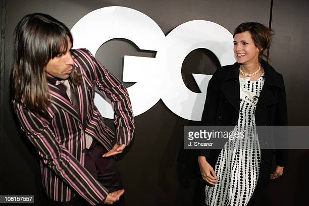 Anthony Kiedis and Nikka during GQ Magazine Celebrates its 2004 Men of the Year Red Carpet at Lucques Restaurant and Ago Restaurant in Los Angeles...