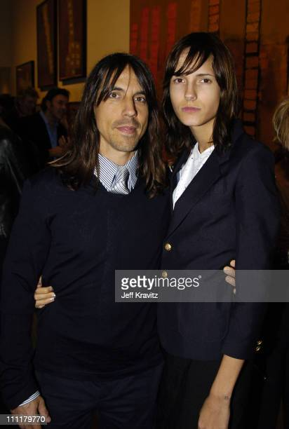 Anthony Kiedis and Nikka during Richard Prince Check Paintings at Gagosian Gallery in Beverly Hills California United States