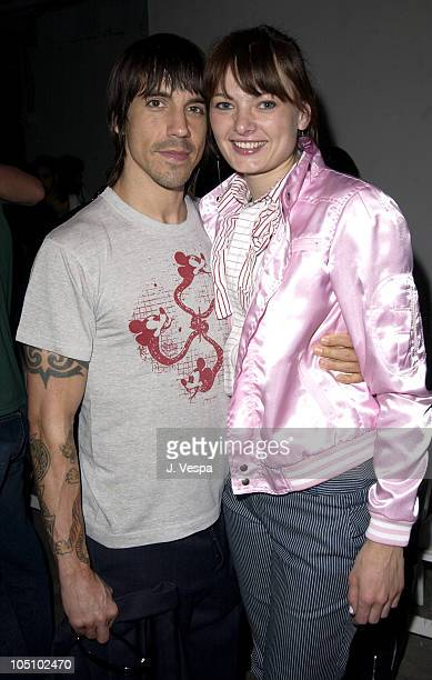 Anthony Kiedis and Yohanna Logan during MercedesBenz Shows LA Jenni Kayne Front Row and Backstage at The Standard Downtown LA in Los Angeles...