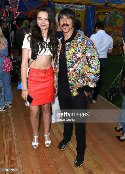 Anthony Kiedis arrives at the Moschino Spring/Summer 19 Menswear And Women's Resort Collection at Los Angeles Equestrian Center on June 8 2018 in...