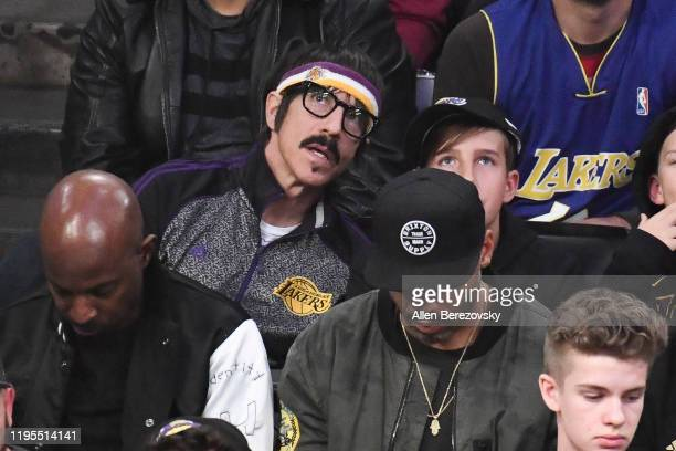 Anthony Kiedis attends a basketball game between the Los Angeles Lakers and the Denver Nuggets at Staples Center on December 22 2019 in Los Angeles...