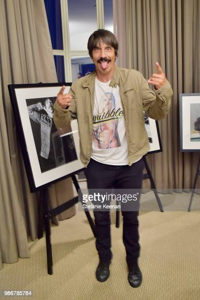Anthony Kiedis attends Diesel Presents Scott Lipps Photography Exhibition 'Rocks Not Dead' at Sunset Tower on June 28 2018 in Los Angeles California