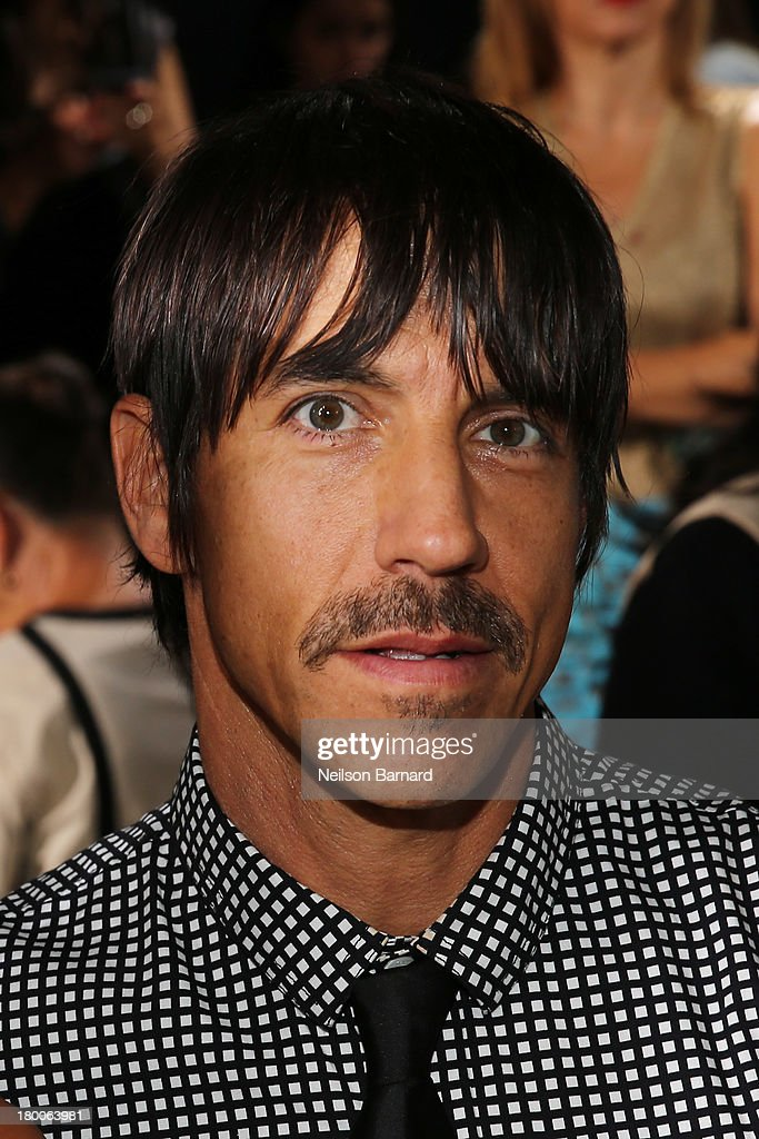 Anthony Kiedis attends DKNY Women's fashion show during Mercedes-Benz Fashion Week Spring 2014 on September 8, 2013 in New York City.